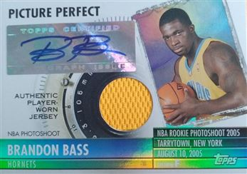 BASS Brandon 2005-06 Topps Big Game Picture Perfect Relics Autographs # PPA-BB (hornets)