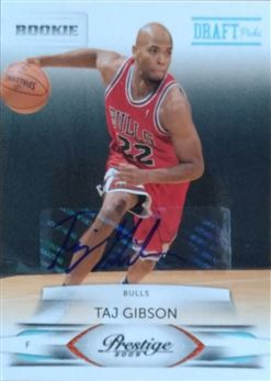 GIBSON Taj 2009-10 Prestige Draft Picks Light Blue Autographs # 226 (bulls)