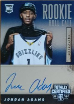ADAMS Jordan 2014-15 Totally Certified Rookie Roll Call Autographs # RRC-JA (grizzlies)