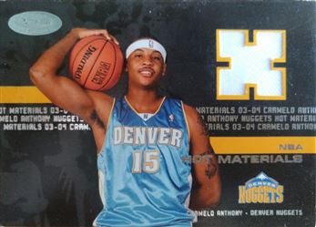 ANTHONY Carmelo 2003-04 Hoops Hot Prospects Hot Materials # HM-CA (nuggets)