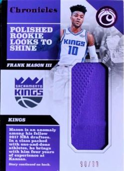 MASON III Franck 2017-18 Panini Chronicles Swacthes Pink # CS-FM3 (kings)