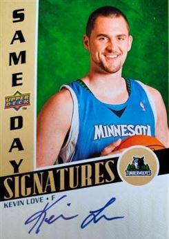 LOVE Kevin 2008-09 Upper Deck Same Day Signatures # RPS-Kl (wolves)