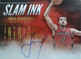 VALANCIUNAS Jonas 2012-13 Panini Intrigue Slam Ink # 16 (raptors)