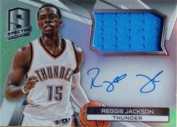 JACKSON Reggie 2014-15 Panini Spectra Jersey Autographs # 38