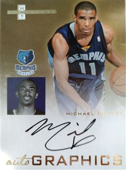 CONLEY JR Michael 2007-08 Fleer Hot Prospects  AutoGraphics # AU-MC (grizzlies)