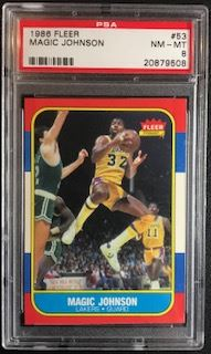 1986 Fleer #53 Magic Johnson