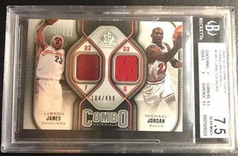 2009-10 SP Game Used Combo Materials #CM23 James/Jordan /499