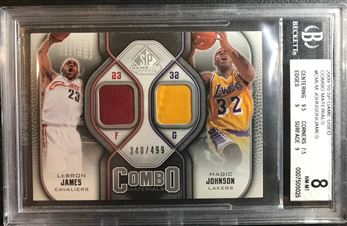 2009-10 SP Game Used Combo Materials #CMLM Johnson/James /499