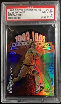 1997 Topps Generations #G24 Refractor Kobe Bryant
