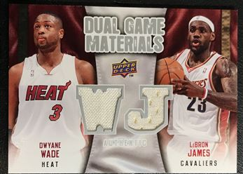2009-10 Upper Deck Game Materials Dual #DG-JW Wade/James