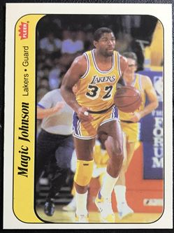 1967-87 Fleer Stickers #7 Magic Johnson