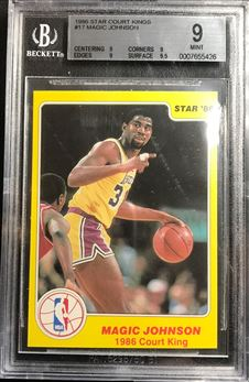 1986 Star Court Kings #17 Magic Johnson
