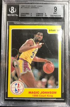 1986 Star Court Kings #17 Magic Johnson