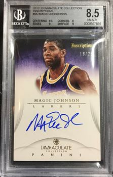 2012-13 Immaculate Collection Inscriptions #MJ Magic Johnsons /25