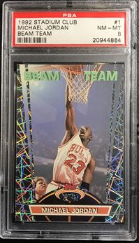 1992-93 Stadium Club Beam Team #1 Michael Jordan
