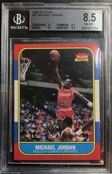 1986-87 Fleer #57 Michael Jordan RC BGS 8.5