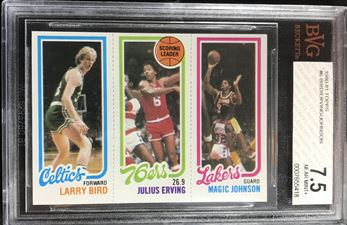 1980-81 Topps #6 Bird/Erving/Johnson RC
