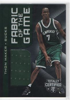 2016-17 Totally Certified Fabric of the Game Rookie Jerseys #17 Thon Maker