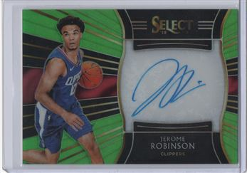 2018-19 Select Rookie Signatures Prizms Neon Green #35 Jerome Robinson