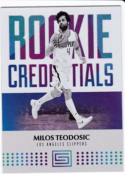 2017-2018 Panini Status Rookie Credentials #36 Milos Teodosic