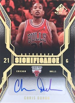 Chris Duhon 07/08 SP Game Used SIGnificance