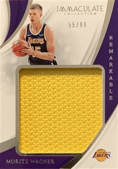 Moritz Wagner 2018/19 Immaculate Collection Remarkable Rookie Jersey 55/99