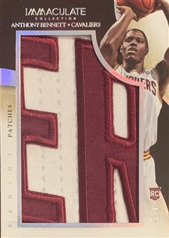 Anthony Bennett 2013/14 Immaculate Collection Rookie Logoman 4/5