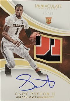 Gary Payton II 2016/17 Immaculate Collection Collegiate #74 45/99