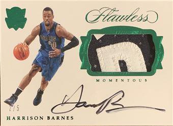 Harrison Barnes 2016/17 Flawless Momentous Patch Autograph Emerald 2/5