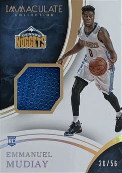 Emmanuel Mudiay 2015/16 Immaculate Collection Sneaker Swatches 20/56