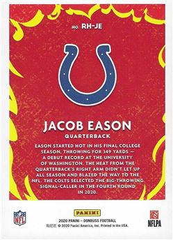 Red Hot Rookies - #RH-JE - Jacob Eason - Indianapolis Colts