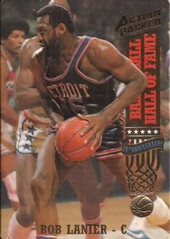 1993 Action Packed Hall of Fame - #42 - Bob Lanier - Detroit Pistons