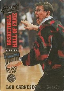 1993 Action Packed Hall of Fame - #14 - Lou Carnesecca - New York Nets