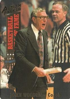 1993 Action Packed Hall of Fame - #12 - John Wooden - UCLA Bruins