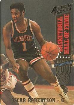 1993 Action Packed Hall of Fame - #40 - Oscar Robertson - Milwaukee Bucks