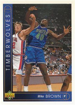 Basketball - 1993-94 Upper Deck - #406 - Mike Brown - Minnesota Timberwolves
