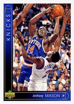 Basketball - 1993-94 Upper Deck - #297 - Anthony Mason - New York Knicks
