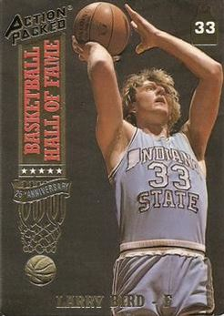 1993 Action Packed Hall of Fame - #18 - Larry Bird - Indiana State Sycamores