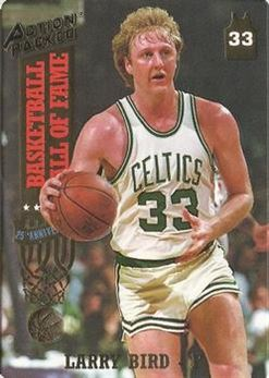 1993 Action Packed Hall of Fame - #21 - Larry Bird - Boston Celtics