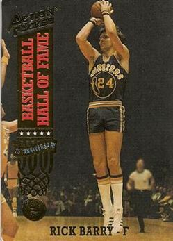 1993 Action Packed Hall of Fame - #48 - Rick Barry - Golden State Warriors