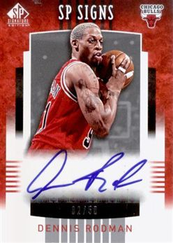 2004-05 SP Signature Edition SP Signs Dennis Rodman /50