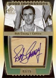 2004-05 SP Game Used Wood Impressions #BC Bob Cousy