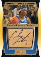 2004-05 SP Game Used Wood Impressions #CA Carmelo Anthony