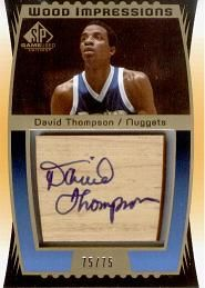 2004-05 SP Game Used Wood Impressions #DT David Thompson