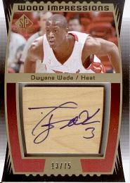 2004-05 SP Game Used Wood Impressions #DW Dwyane Wade