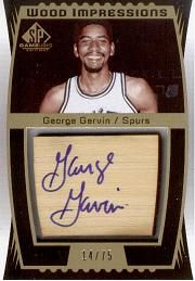 2004-05 SP Game Used Wood Impressions #GG George Gervin