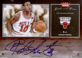 2005-06 Greats of the Game Autograph B.J. Armstrong