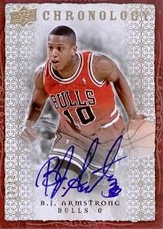 2007-08 Chronology Autographs Gold B.J. Armstrong /10
