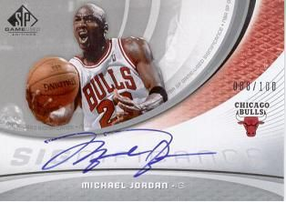 2005-06 SP Game Used SIGnificance Michael Jordan /100
