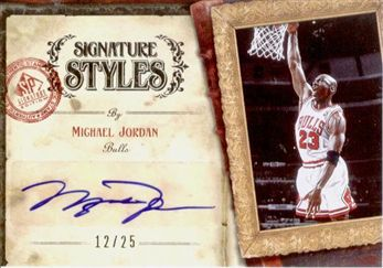 2006-07 SP Signature Edition Signature Style MJ Michael Jordan /25